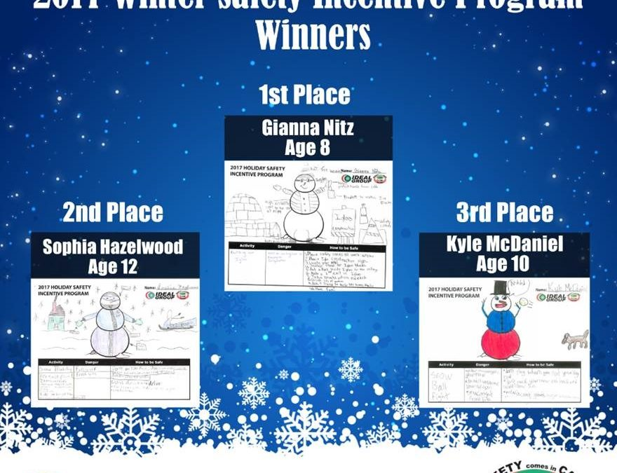Congratulations 2017 Winter Safety Incentive Program Winners!