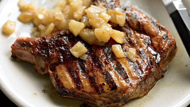 Teriyaki Pork Chops with Sautéed Apples